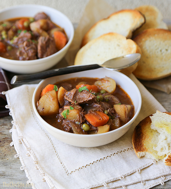Slow Cooker Beef and Potato Stew by The Chic Site
