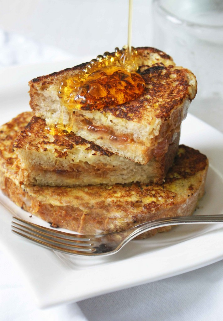 snow-day-recipes-peanut-butter-french-toast