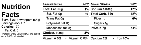 Shrimp and Vegetable Egg Roll Nutrition Facts - Eat This Much