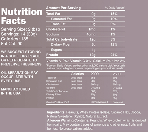 great value peanut butter ingredients xylitol