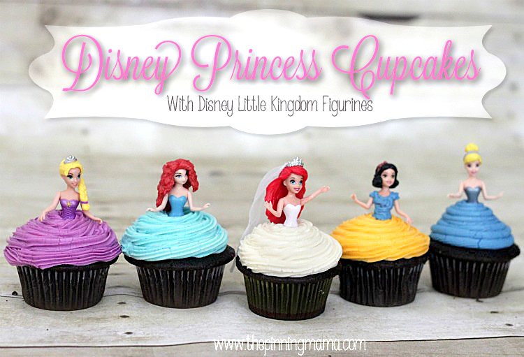 Disney Princess Cupcakes With Skirts 01