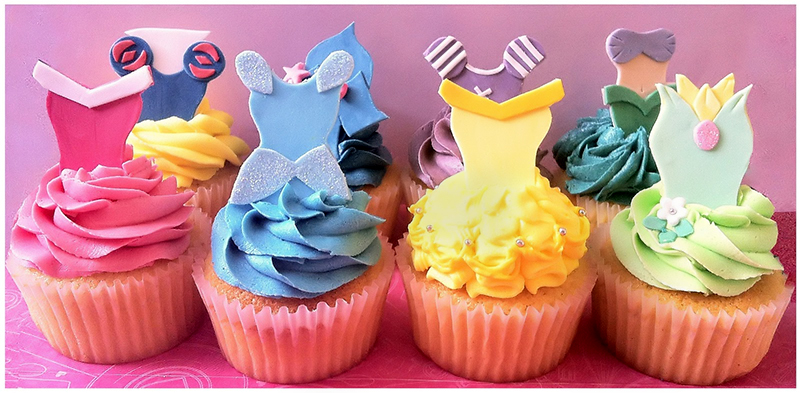 Disney Princess Cupcakes With Skirts 02