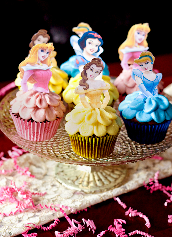 Disney Princess Cupcakes With Skirts