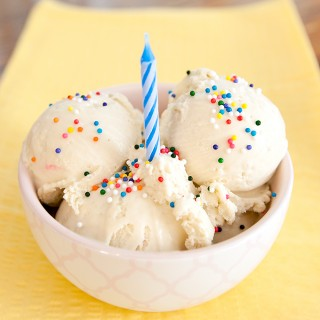 Homemade Birthday Cake Ice Cream