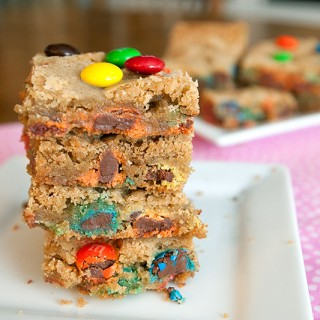 Classic M&M Cookie Bars