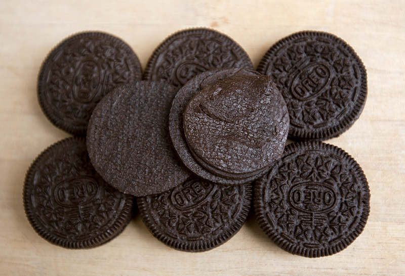 opened brownie batter oreos