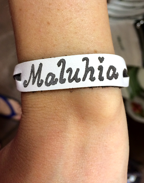 personalized hawaiian name bracelet