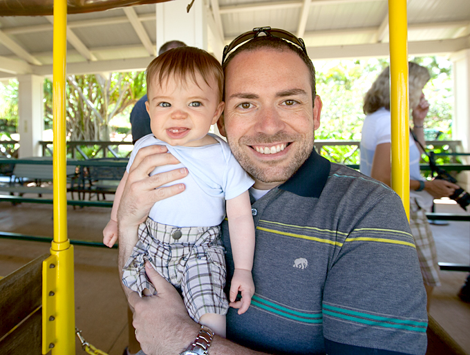baby on dole plantation train