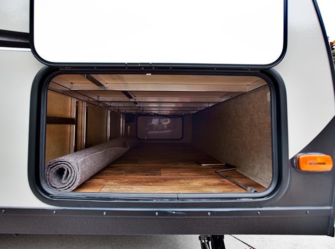 pass through storage of trailer