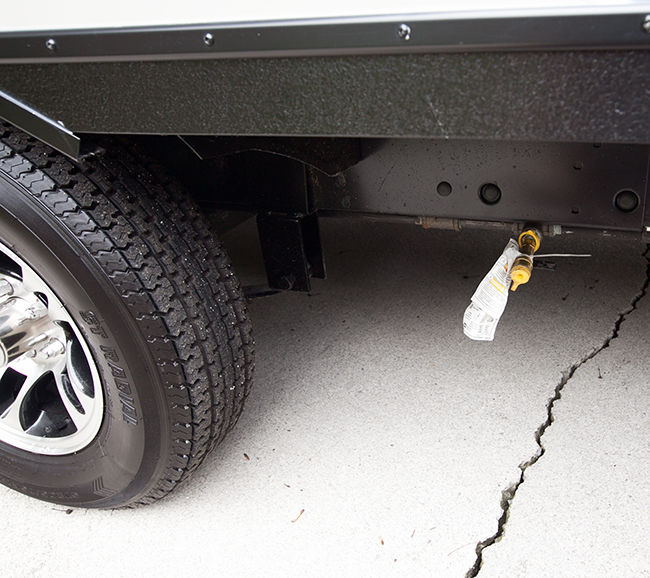 gas line hookup for grill on trailer