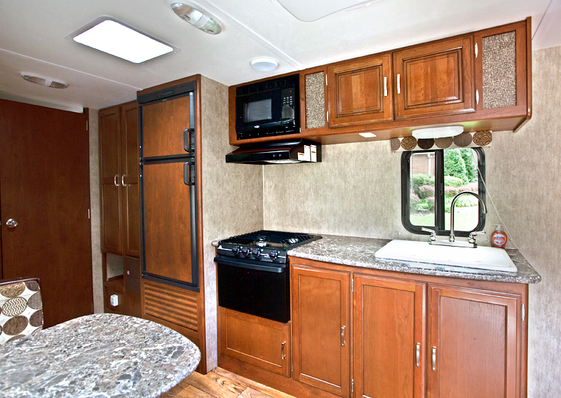 kitchen appliances in passport ultra lite trailer