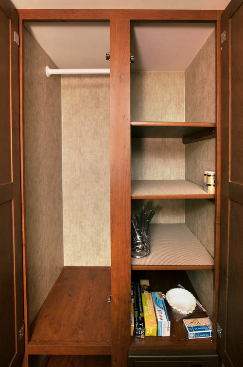 pantry and closet in passport ultra lite trailer