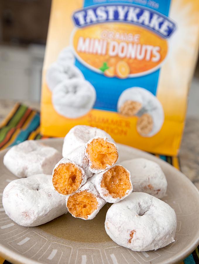 tastykake orange mini powdered donuts