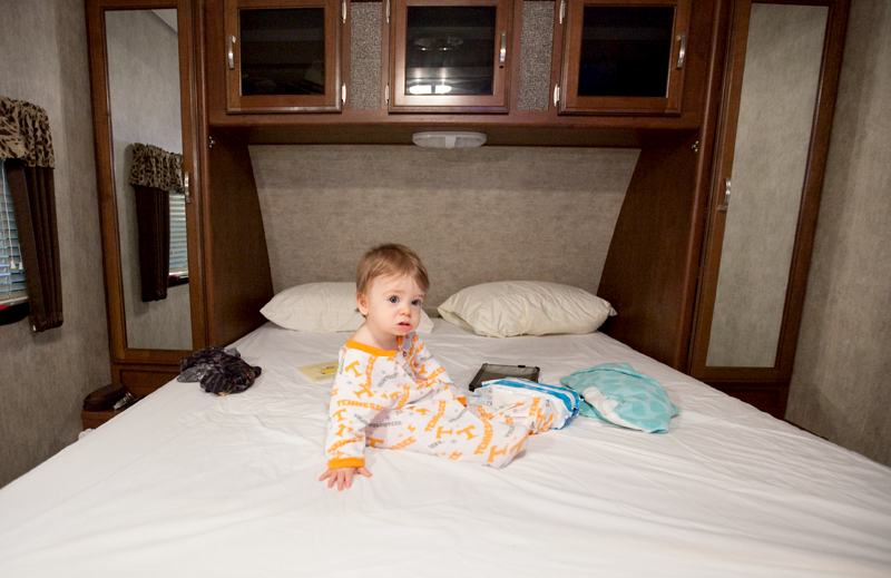baby-sitting-on-camper-bed
