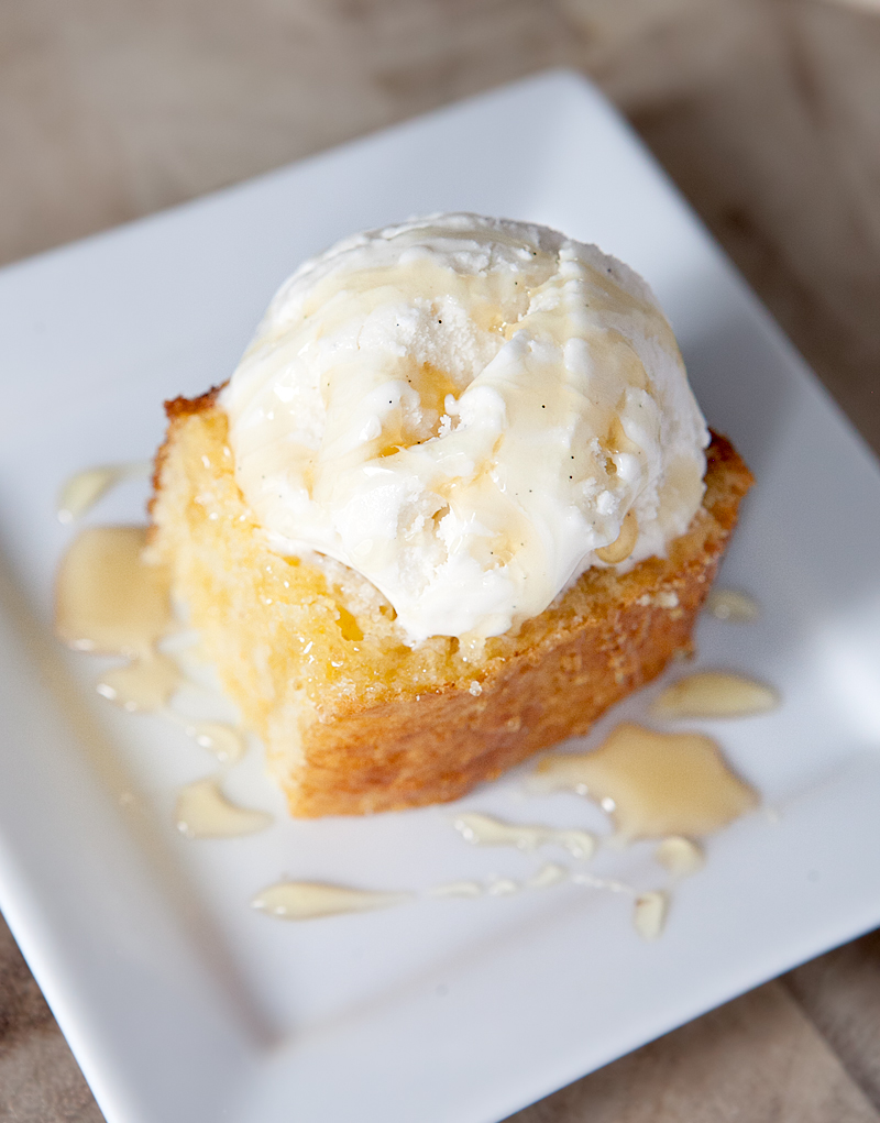 Cornbread cake with buttermilk ice cream - this unique and insanely ...