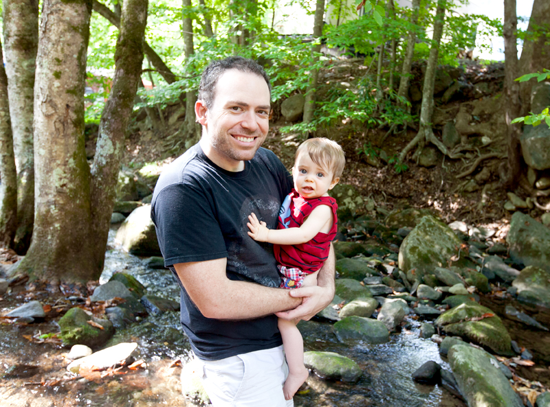 daddy-and-baby-in-smoky-mountain-creek