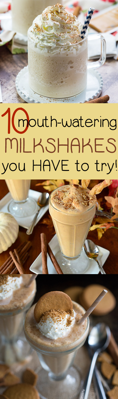 A round-up of some of the most delectable milkshakes we could find - great seasonal flavors for easing into fall such as gingersnap, caramel apple, pumpkin (but of course), chai, and more!