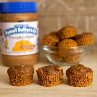 Gluten Free Pumpkin Spice Peanut Butter Mini Muffins + Giveaway