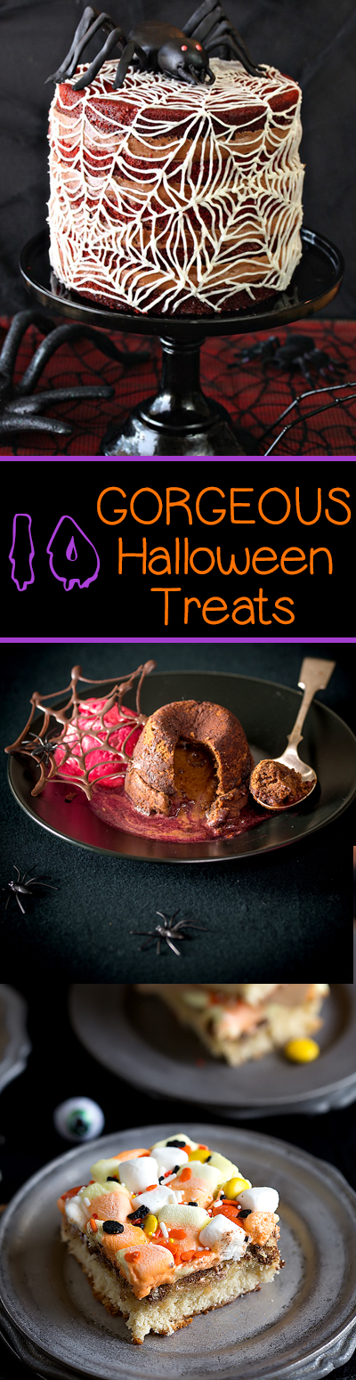 These are the most gorgeous Halloween desserts, appetizers, and treats that you will ever see!  Add a little grown-up elegance to a fun holiday.