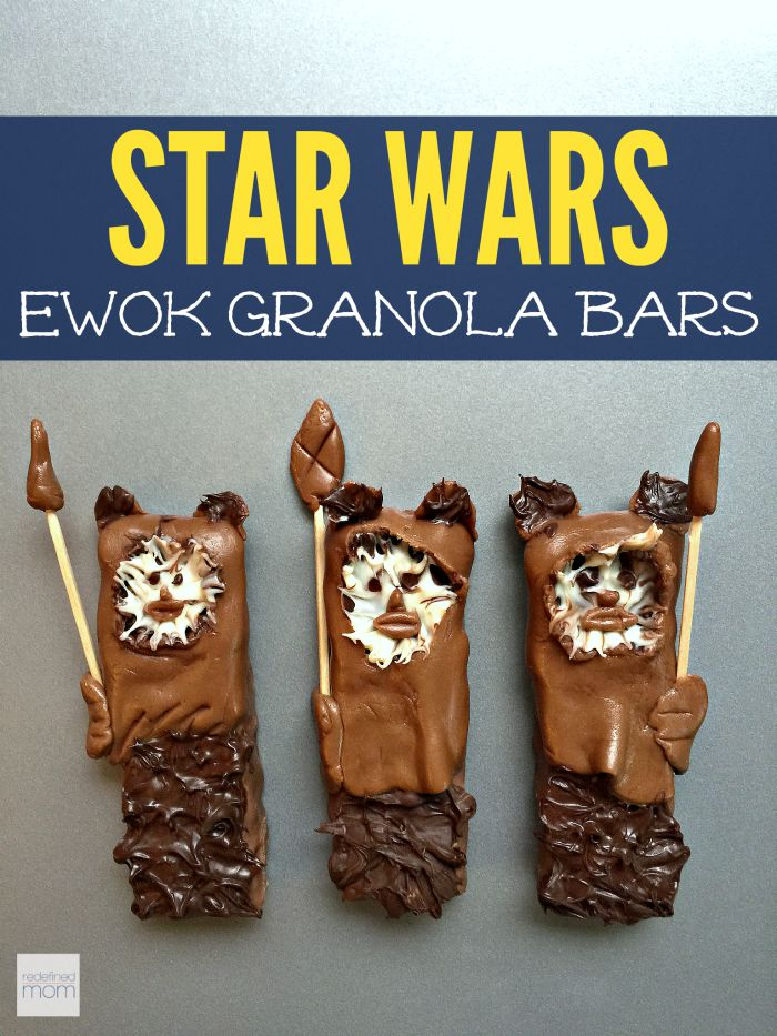 Food inspired by Star Wars - Ewok granola bars!
