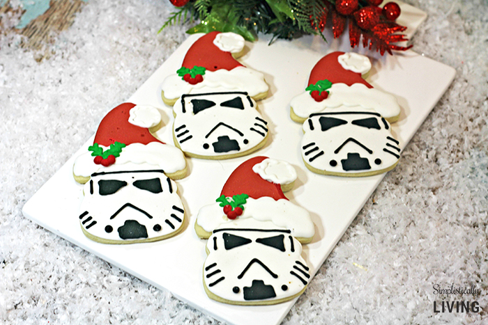 Food inspired by Star Wars - Santa Storm Trooper Cookies