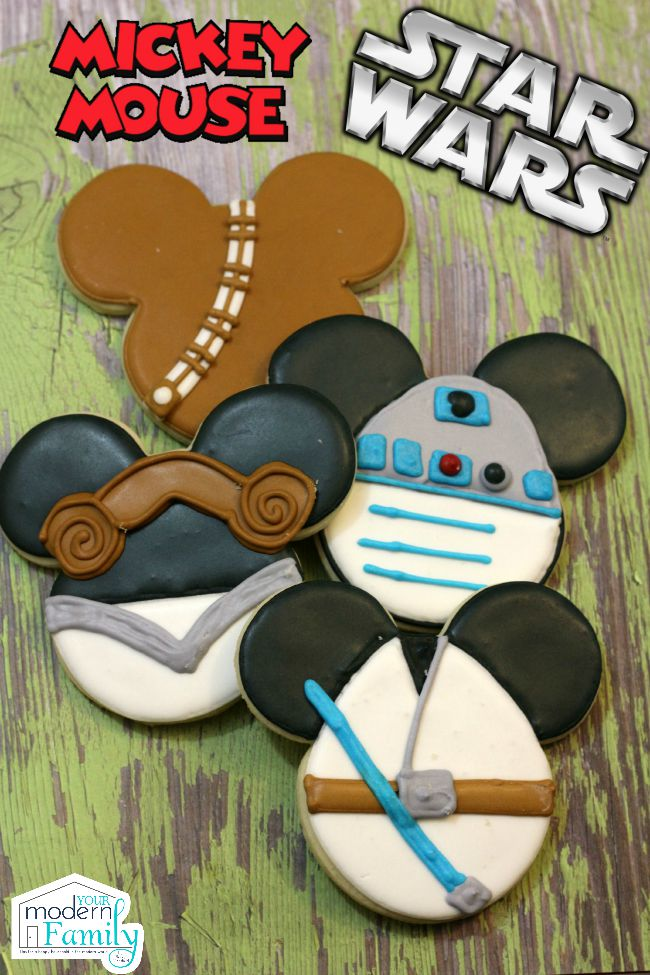 Mickey Mouse Star Wars Cookies