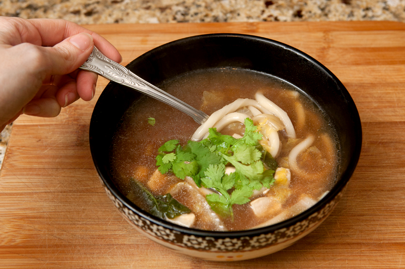 Blue Apron Meal Delivery - Chicken and Udon Soup