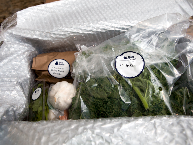 Blue Apron Meal Delivery - how the ingredients are delivered