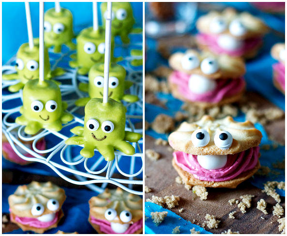 Bubble Guppies Party Clam Cookies and Marshmallow Pops