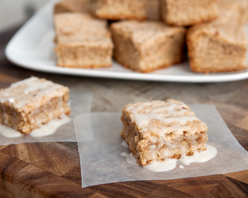 Glazed Eggnog Cookie Bars - use up that leftover eggnog during the holidays!
