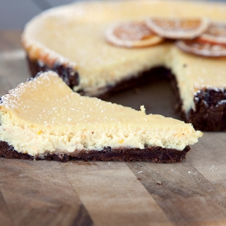 Chocolate Orange Ricotta Tart