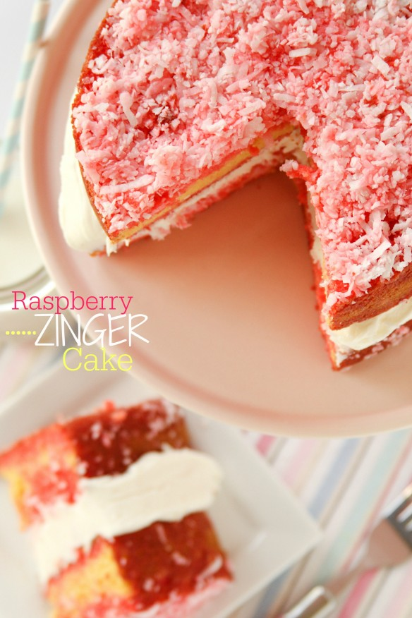 Hostess Copycat Recipes - homemade Raspberry Zinger cake!