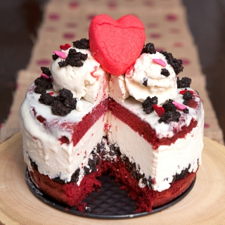 Red Velvet Cream Cheese Ice Cream Cake