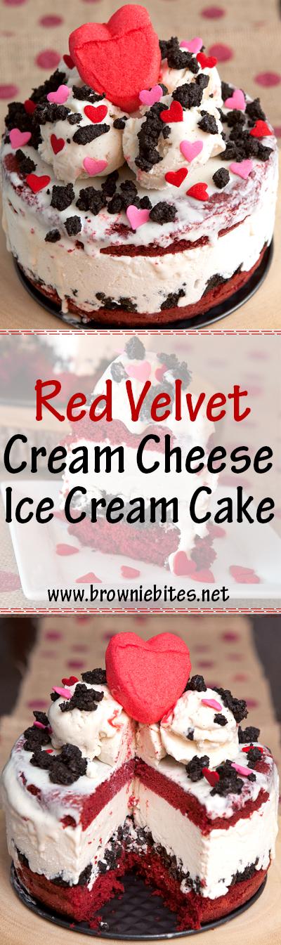 How to make a red velvet ice cream cake