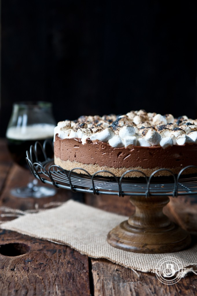 Chocolate Stout S'mores Icebox Pie - no bake recipes for when you need chocolate NOW!