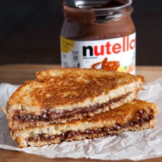 Grilled Nutella and Gouda Cheese Sandwich
