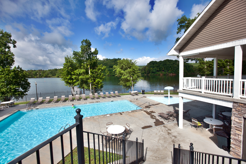 pool and pavilion at caney creek rv resort