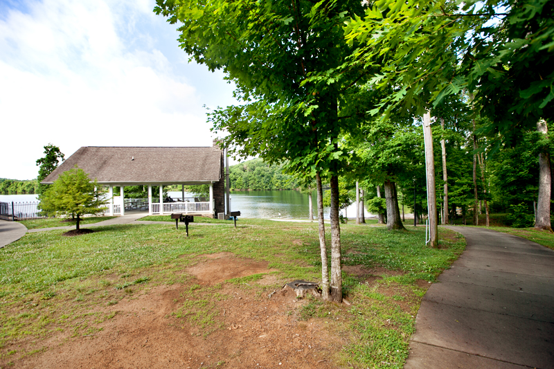 pool pavilion and trail at caney creek rv resort