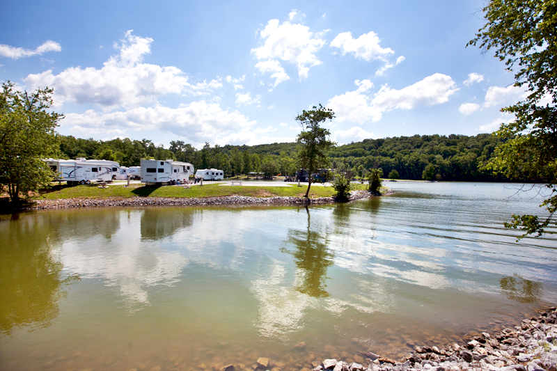 lake front sites at caney rv resort