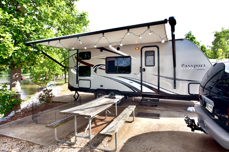 keystone camper at the lake