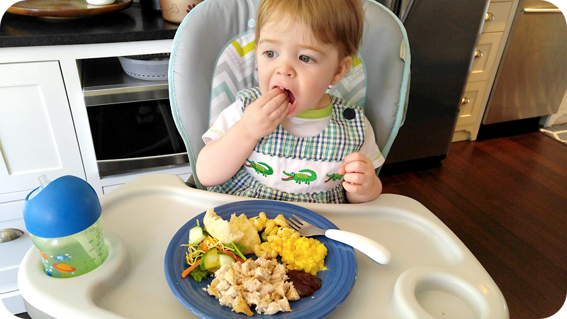toddler-eating-a-plate-of-food