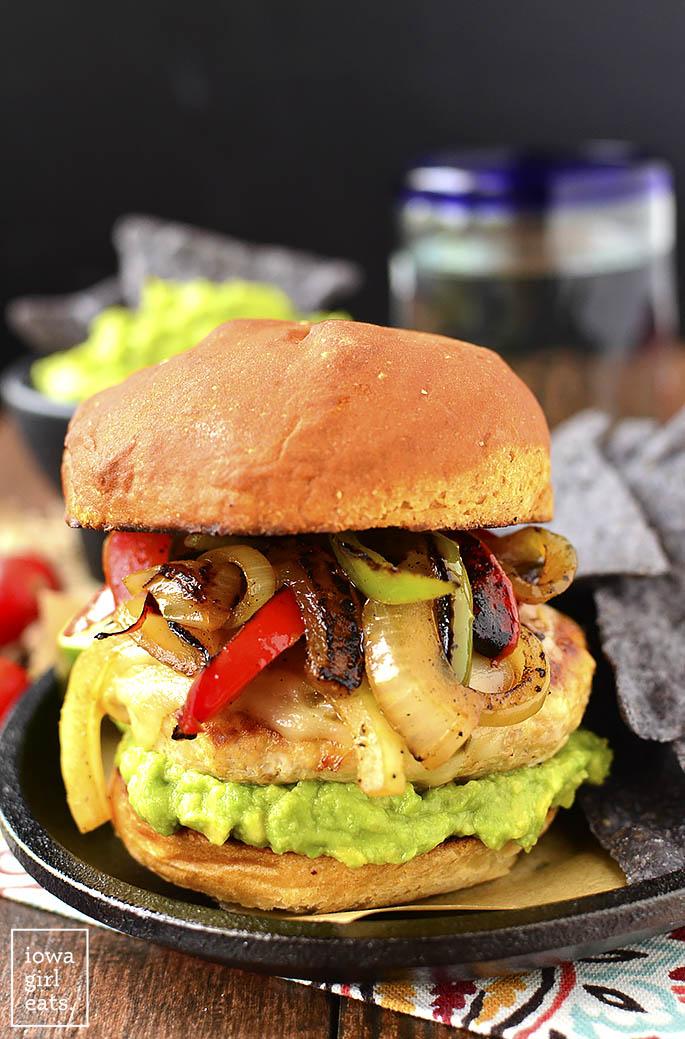 chicken fajita cheeseburger recipe