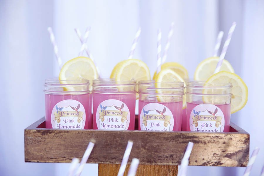 Pink lemonade at Sofia the First party