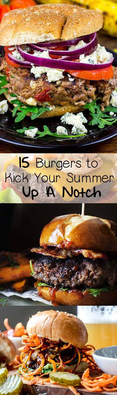 A list of 15 mouth-watering hamburger and cheeseburger ideas to kick up your summer grilling game.