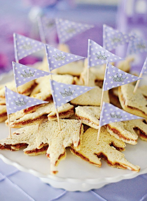 Crown sandwiches for Sofia The First Party