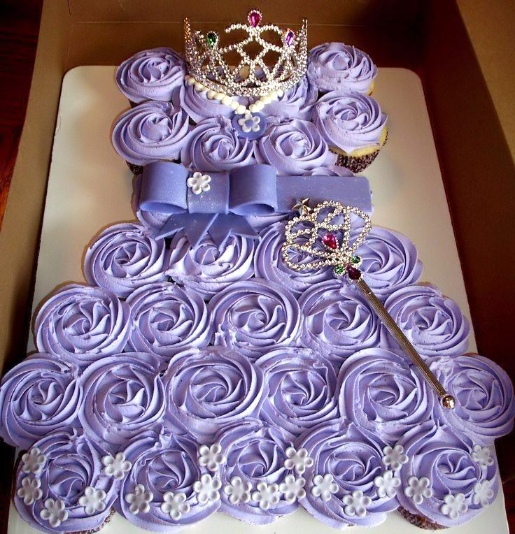 Sofia The First Cupcake Dress Cake