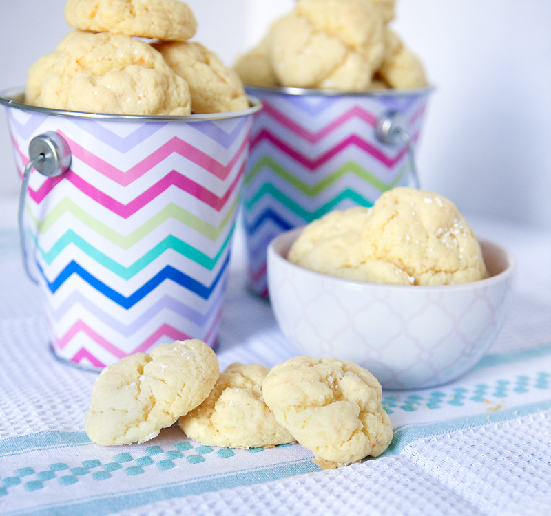 Soft and buttery cake mix cookies - the texture of these cookies is amazing, soo soft and pillowy!