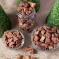 Brownie Batter Christmas Crunch Snack Mix - this mix is SO chocolate-y and you can use any combination of cereals that you like. Leave out the sprinkles or use different colors for different holidays