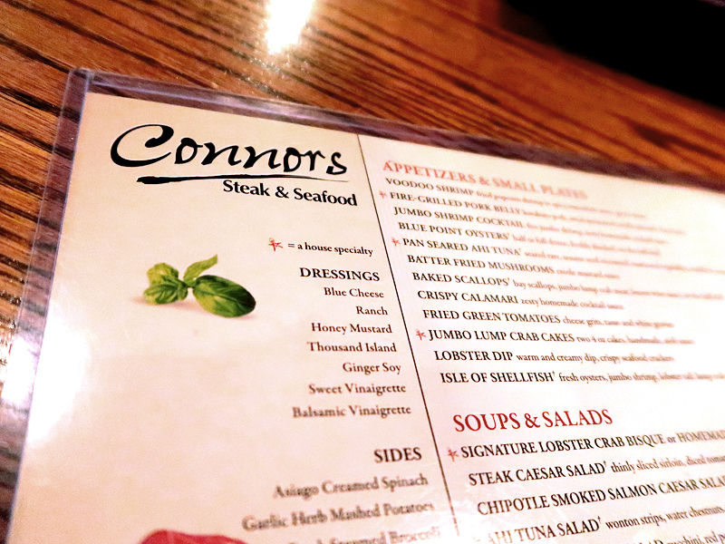 Connor's Steakhouse Review in Knoxville Tennessee