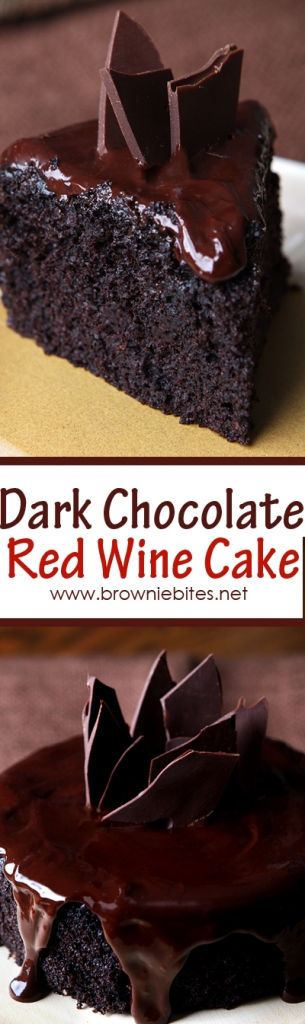 This impossibly moist and fudgy dark chocolate cake is baked with red wine and covered with a dark chocolate red wine ganache. It's scaled down to a cute 6-inch cake, so it's a perfect dessert for two!